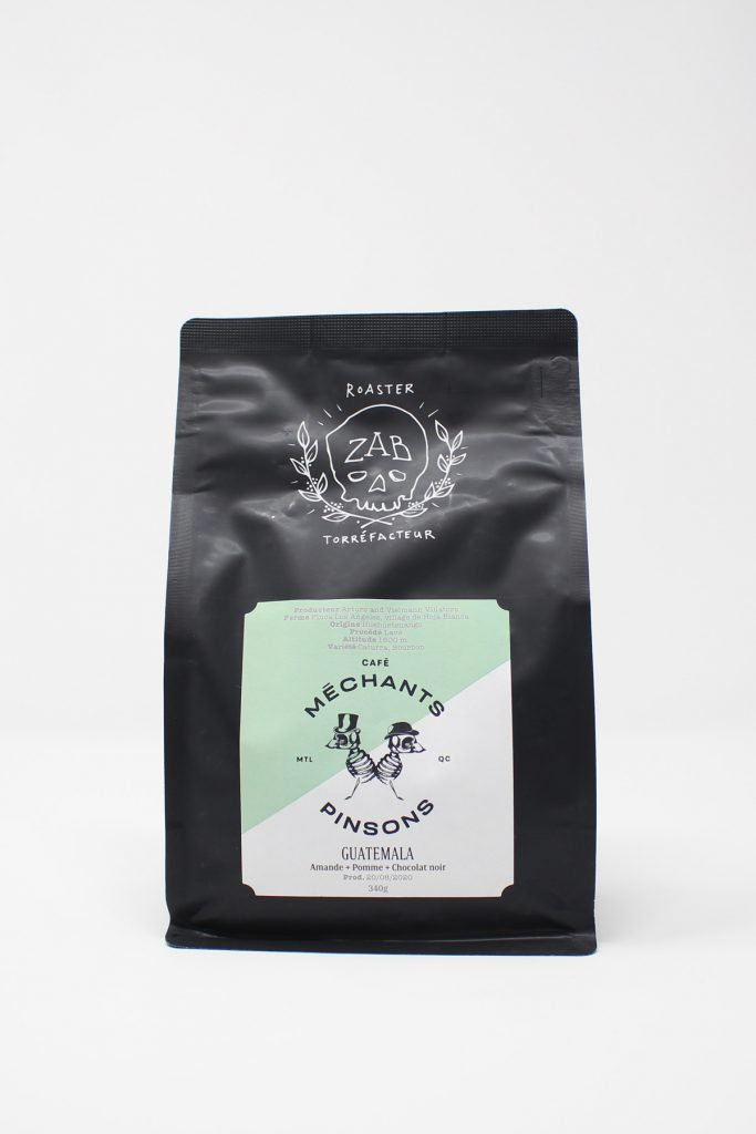 Front View of Mechant Pinsons Special Coffee from Roaster Zab